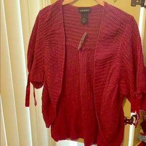 Brand new with tags Lane Bryant Wine color sweater